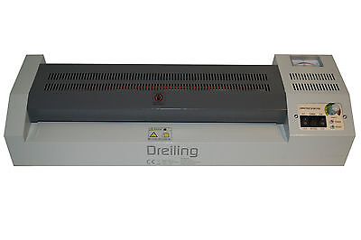 "17.5"" A2 Roll Laminator 4 Roller Hot Cold Laminating Machine for 450mm paper"