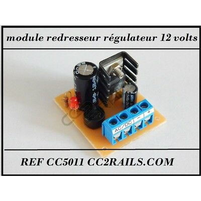 Cc5011 - Module Redresseur Courant Alternatif En Régulateur De Tension 12 Volts