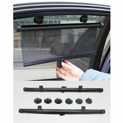 Pair Of 2 Car Window Sun Shade Roller Blind Screen Protector Protection Children