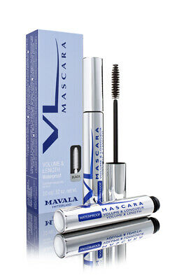 Mavala Volume & Length Waterproof Mascara 10ml 4 Colours Black Brown Blue Plum
