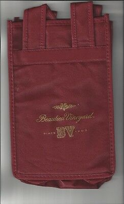 6 Bottle Cloth Wine Tote from Beauliue Vineyards Ruthford CA