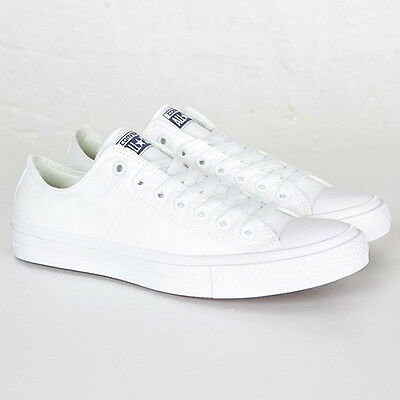58bb1717e3a NEW CONVERSE ALL Star Chuck Taylor II Canvas Low Shoes MENS 13 White ...
