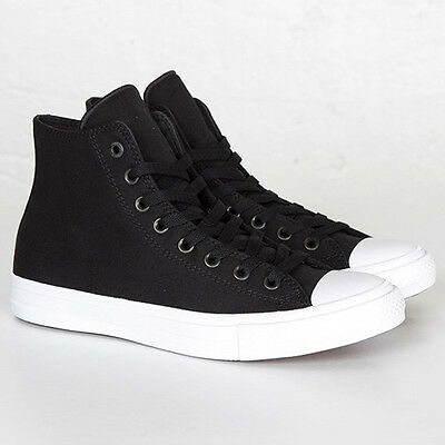 5da00299e94c Converse All Star Chuck Taylor II 2 Canvas Unisex Shoes Hi Top Black 150143C