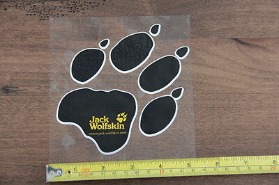 JACK WOLFSKIN Clothing Backpacks STICKER Decal PAW PRINT NEW