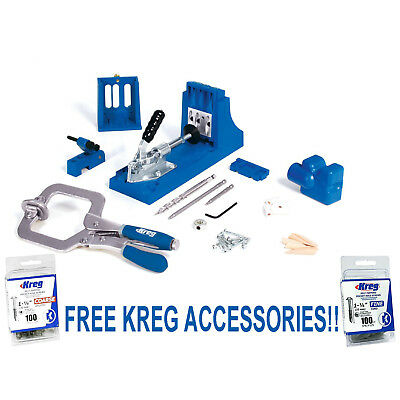 Kreg K4MS Master System Woodworking Pocket Hole Jig Joinery + 200 Screw DVD Tool