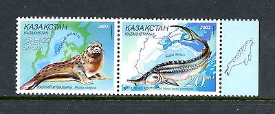 Kazakhstan  2002  #386  sea lion, prehistoric fish  pair    MNH  H124