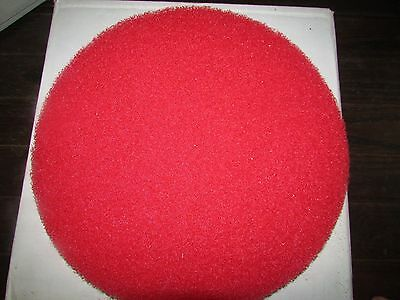 """New CASE OF 5 Bright Solutions RED Floor Buffer Pad 13"""" Cleaning Maintenance"""
