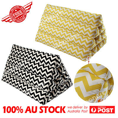Thai Triangle Pillow Pad Cushion Handmade 100% Kapok Cotton Black/Yellow Strip