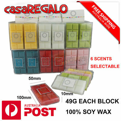 Melt Block 6 Scent Soy Wax Candle Natural 49G 100% Soy Wax Free Shipping