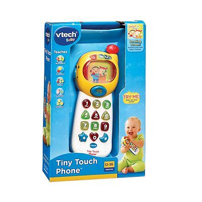 New Vtech Baby Infant Toy Pretend Play Tiny Touch Phone Mobile Telephone 063303