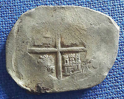 Spanish Colonial Silver Cob 8 Reales 27,00 grams !!