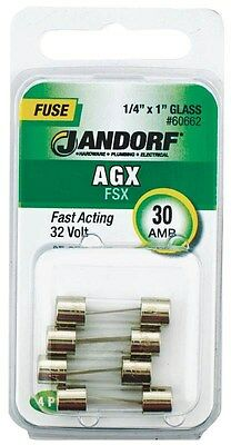 Fuse Agx 30a Fast Acting,No 60662,  Jandorf Specialty Hardware