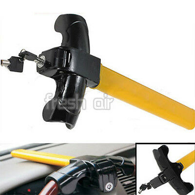 New Anti-Theft Car/van Security Rotary Steering Wheel Lock-High Visibility