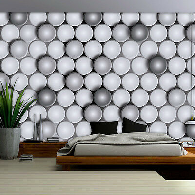 tapete fototapete wandbild grau weiss 3d geometrie kunst. Black Bedroom Furniture Sets. Home Design Ideas