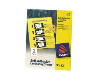 "Avery 73602 9"" X 12"" Clear Self Adhesive Laminating Sheets 2 Count,No 73602"