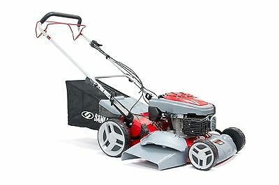 "BRAND NEW 18"" Self Propelled 4 in 1 Mulching Petrol Rotary Lawnmower Ohv Engine"