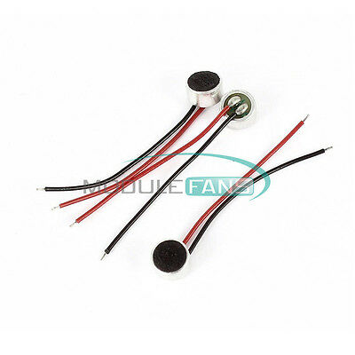 3PCS 4*1.5mm Electret Condenser Microphone MIC Capsule 2 Leads New