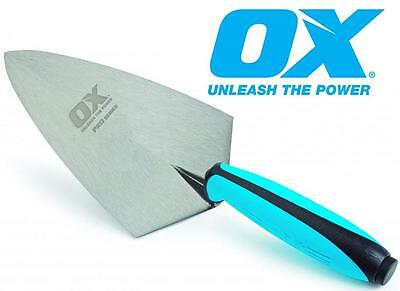 OX Pro Solid Forged Philadelphia Pattern Brick Trowel With Duragrip Handle