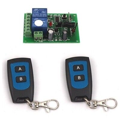 New 12V 2 Channel RF Wireless System Remote Control Switch Transmitter+Receiver