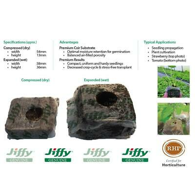 58mm wide Jiffy® Coir Grow Blocks. For growing plant & seed cutting propagation.