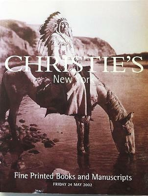 Christie's Auction Catalog Thoober-1083: Fine Printed Books May 2002 New York