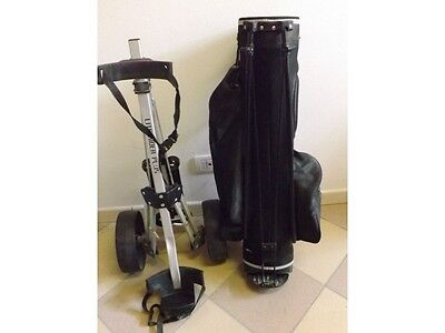 Sacca Da Golf Ram Nera Tracolla Zaino Con Carrello Lite Rider Plus Regal