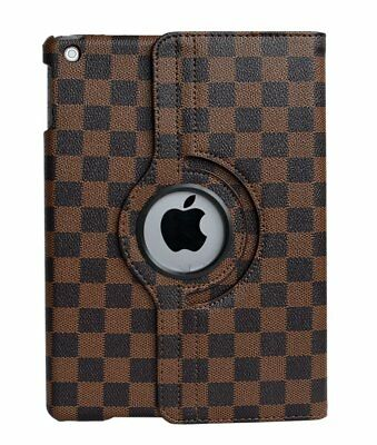 iPad Mini 1 2 3 4 Gen 360° Rotatable High Quality Chequered Stand Case Cover