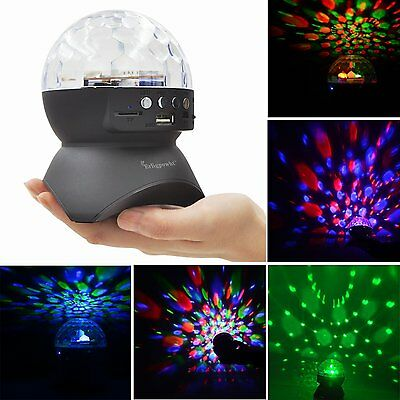 Autism Sensory LED Lights Visual Projector Special Needs Rotating Ball Lamp