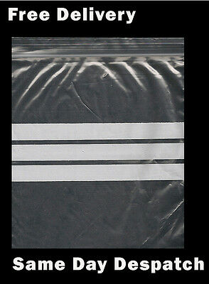 Grip Zip Lock Self Press and Seal With Write On Panels Strips Resealable Bags
