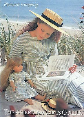 1993 Retired Pleasant Company Catalog! Kirsten Cover! Molly~Felicity~Samantha