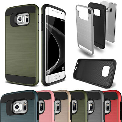 Slim Shockproof Hybrid Brushed Rugged Silicone Case For Samsung Galaxy All Phone