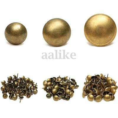 50/100 Pcs Antique Upholstery Nails Tacks Furniture Hardware Bronze Studs Pins