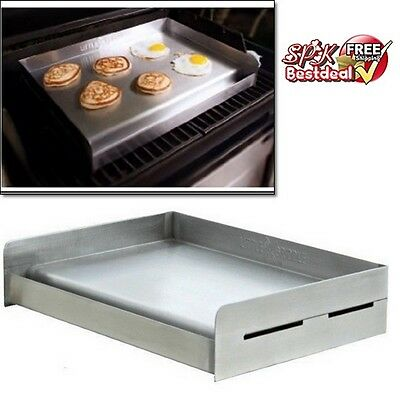 Universal Stainless Steel Grill Griddle BBQ Barbecue Camp Patio Cooking Outdoor