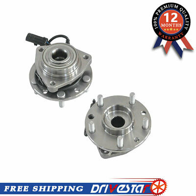 New Front Wheel Hub Bearing Assembly Pair Set for 4WD w/ABS GMC,Chevy,GM Trucks
