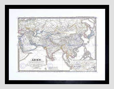1855 Spruner Map Asia During Chang Dynasty China Tibet Framed Art Print B12X2197