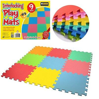 9pcs Eva Interlocking Soft Safe Foam Kids Children Play Mats Set Tiles Floor UK