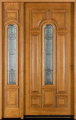 Solid Wood Ash Entry Door Single With 1 Sidelite Prehung Prefinished 525 1SL