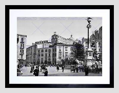TWO ALLEYS IN SANTA LUCIA NAPLES ITALY 1895 OLD BW PHOTO PRINT POSTER 750BWB
