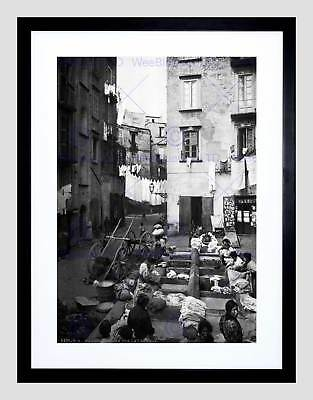 SORRENTO NAPLES ITALY 1895 VINTAGE HISTORY OLD BW PHOTO PRINT POSTER 723BWB
