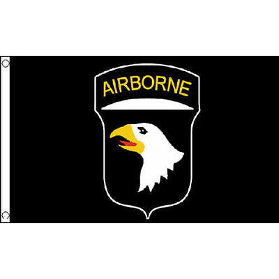 101st Airborne Black 5'x3' Flag USA Military Army Air Force