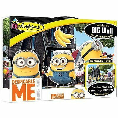 Colorforms Brand Despicable Me Big Wall featuring The Minions NEW! FREE SHIPPING