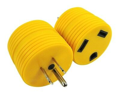 RV Electrical Adapter Plug 15AMP Male to 30AMP Female Motorhome Camper Round