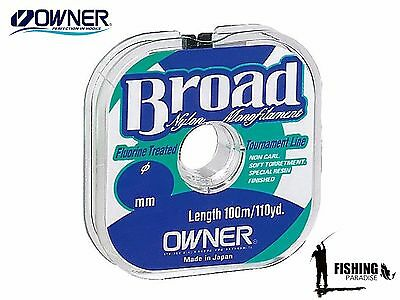 Owner BROAD Nylon Monofilament Line Perfect Quality Fishing Line 100 m / 110 yds