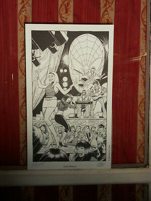CirusTota Ex -libris : Gwen Stacy Party (Spider-man ) Signé - 15 x 25,5 . 1998