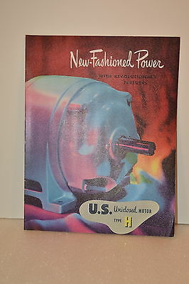 1956 NEW-FASHIONED POWER WITH REVOLUTIONARY FEATURES US Motor CATALOG JRW #023