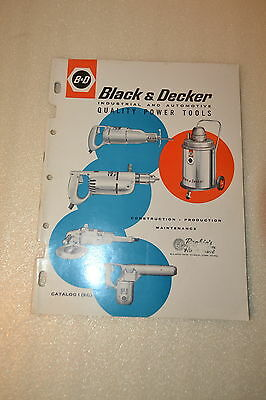 BLACK & DECKER CATALOG Utility Power Tools (1961) (JRW #075) Grinder Drill