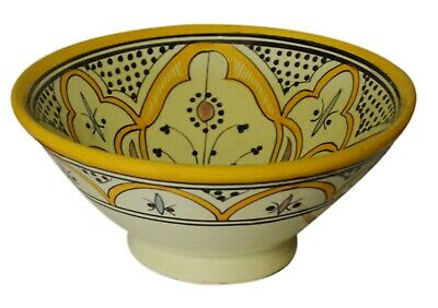 Moroccan Ceramic Plate Bowl Pottery Spanish Salad Pasta Soup Fruit Dish 8 inches