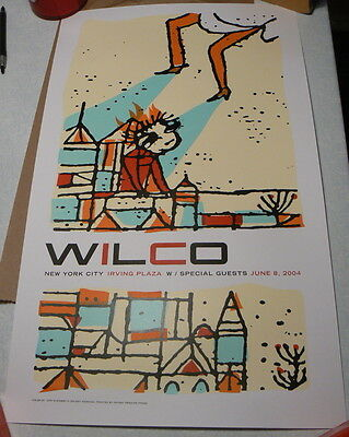 Wilco Concert Poster Irving Plaza NYC 2004 Limited Edition 6/8/04 New York City