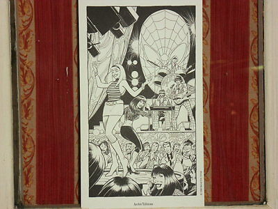 Cirus Tota -Ex -libris : Gwen Stacy Party (Spider-man )  - 15 x 25,5 . 1998