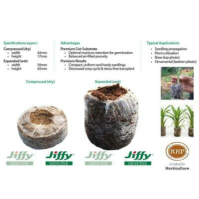 50mm Jiffy-7 Coir Pellets. For seed & cutting propagation. Range of pack sizes.